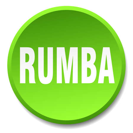 rumba: rumba green round flat isolated push button