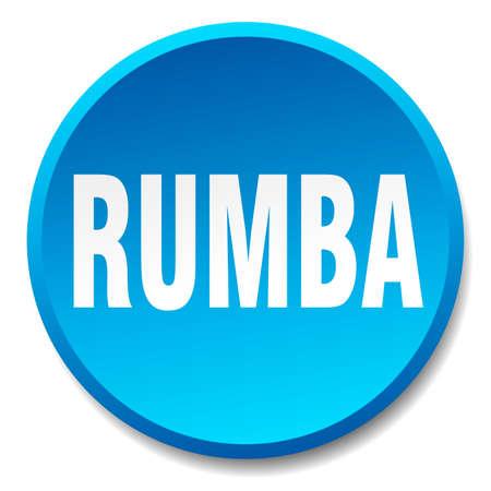 rumba: rumba blue round flat isolated push button Illustration