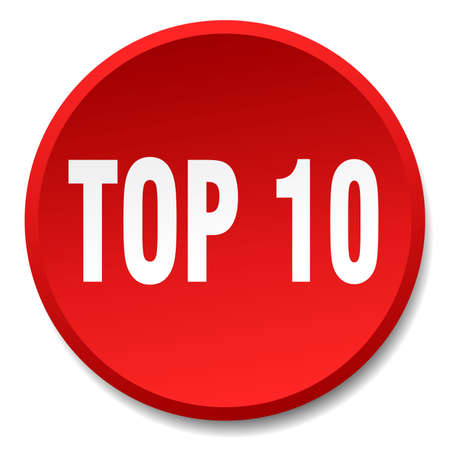 top 10: top 10 red round flat isolated push button