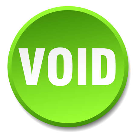 void: void green round flat isolated push button