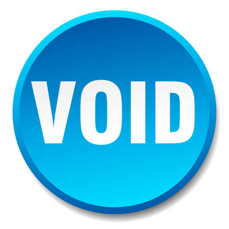 the void: void blue round flat isolated push button Illustration