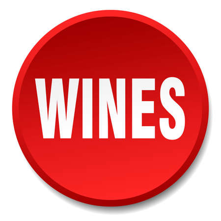 wines: wines red round flat isolated push button