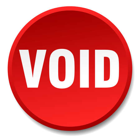 the void: void red round flat isolated push button