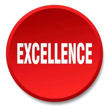 excellence: excellence red round flat isolated push button