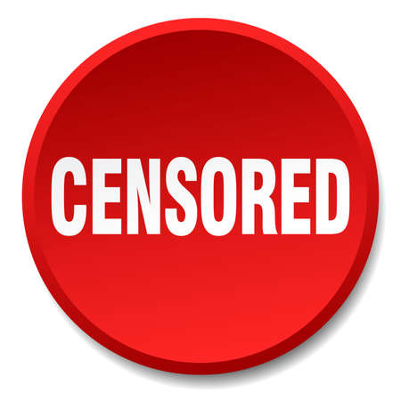 censored: censored red round flat isolated push button