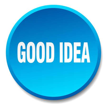 good idea: good idea blue round flat isolated push button