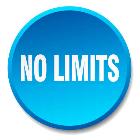 no limits: no limits blue round flat isolated push button