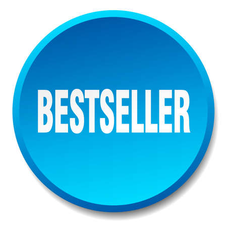 bestseller: bestseller blue round flat isolated push button Illustration