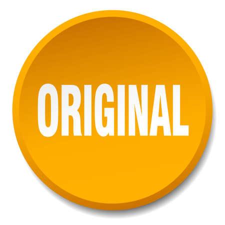 original: original orange round flat isolated push button