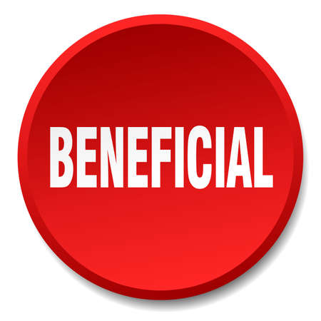 beneficial: beneficial red round flat isolated push button Illustration