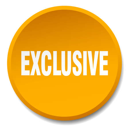 exclusive: exclusive orange round flat isolated push button Illustration