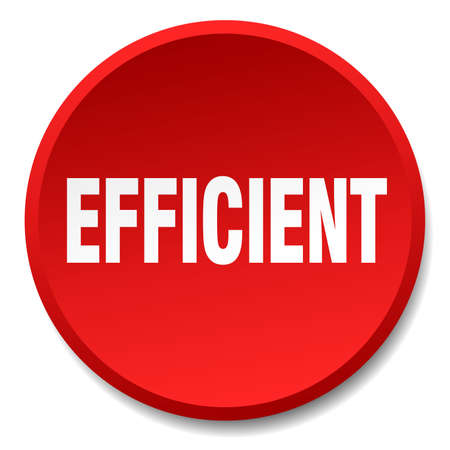 efficient: efficient red round flat isolated push button