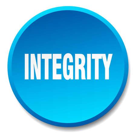 integridad: azul aislado plana integridad pulsador redondo