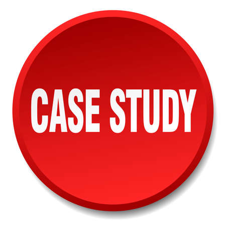 case study: case study red round flat isolated push button