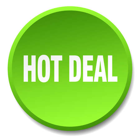hot deal: hot deal green round flat isolated push button