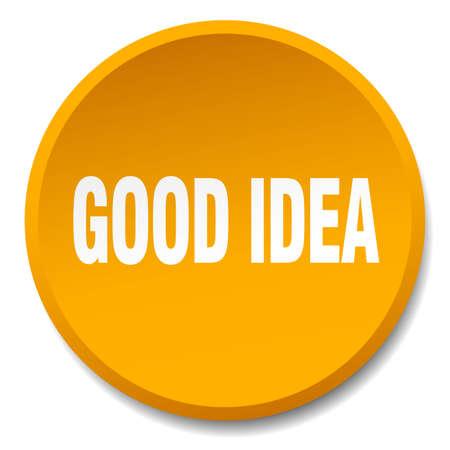 good idea: good idea orange round flat isolated push button