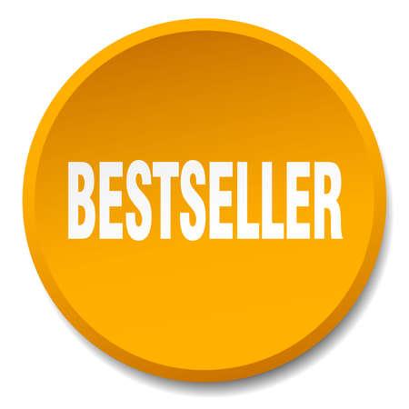 bestseller: bestseller orange round flat isolated push button