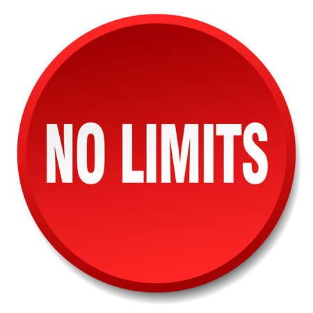 limits: no limits red round flat isolated push button