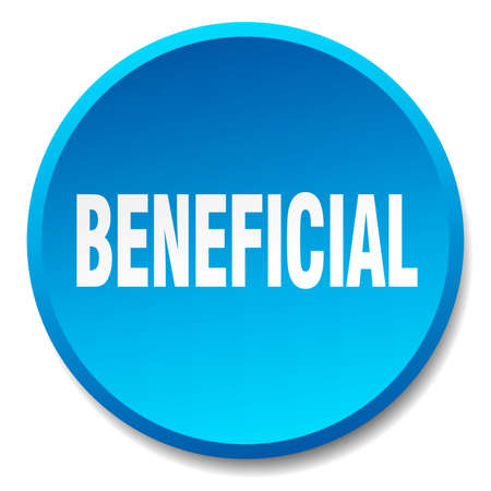 beneficial: beneficial blue round flat isolated push button