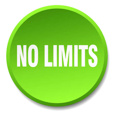 limits: no limits green round flat isolated push button