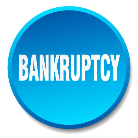 bankruptcy: bankruptcy blue round flat isolated push button