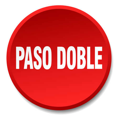 paso doble: paso doble red round flat isolated push button