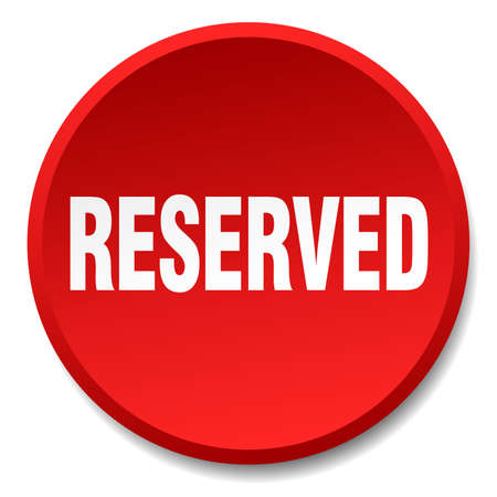 reserved: reserved red round flat isolated push button