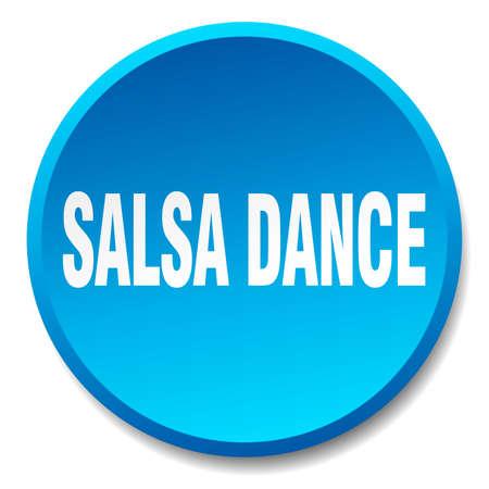 salsa dance: salsa dance blue round flat isolated push button