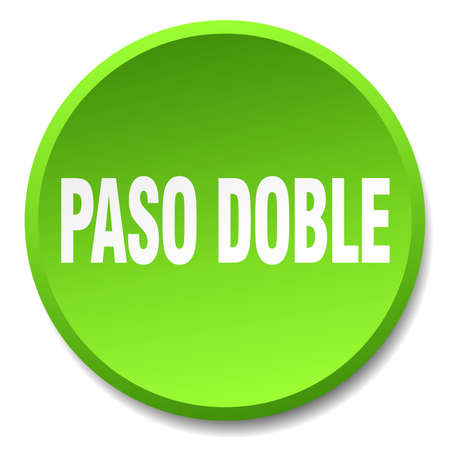 paso doble: paso doble green round flat isolated push button
