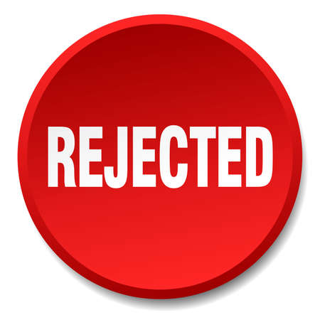 rejected: rejected red round flat isolated push button