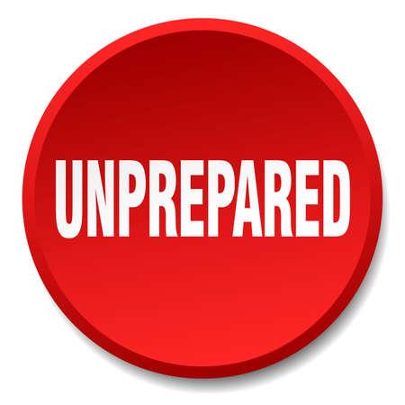 unprepared: unprepared red round flat isolated push button