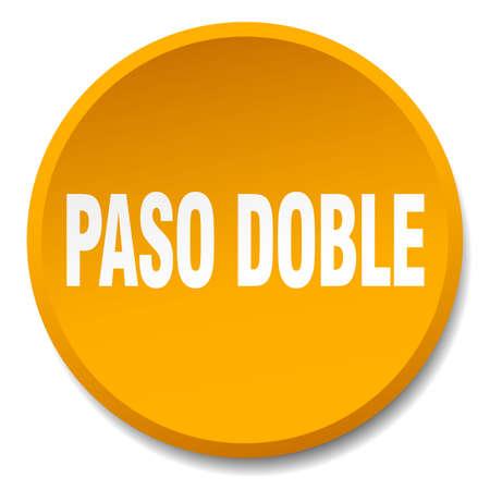 paso doble: paso doble orange round flat isolated push button Illustration