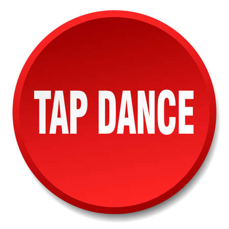 tap dance: tap dance red round flat isolated push button