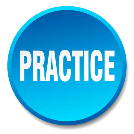 practice: practice blue round flat isolated push button