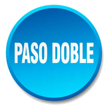 paso doble: paso doble blue round flat isolated push button