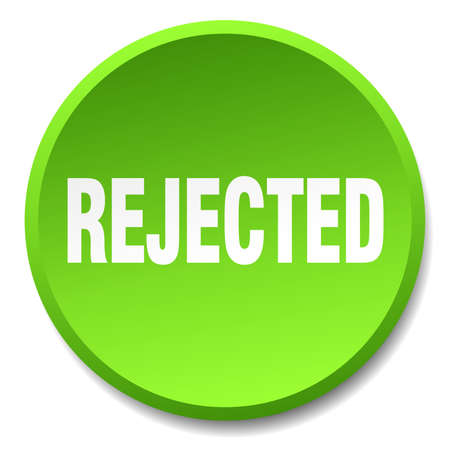 rejected: rejected green round flat isolated push button