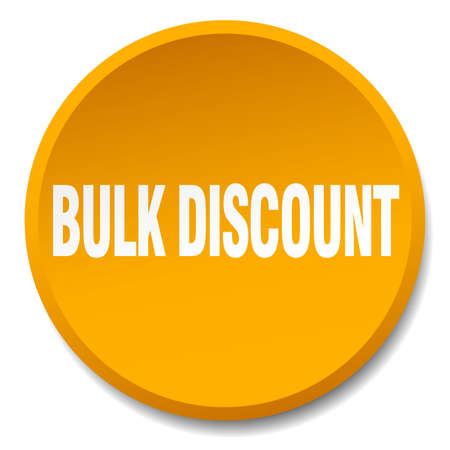 bulk: bulk discount orange round flat isolated push button