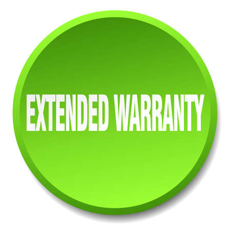 extended: extended warranty green round flat isolated push button