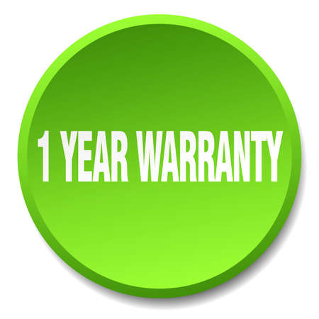 1 year warranty: 1 year warranty green round flat isolated push button