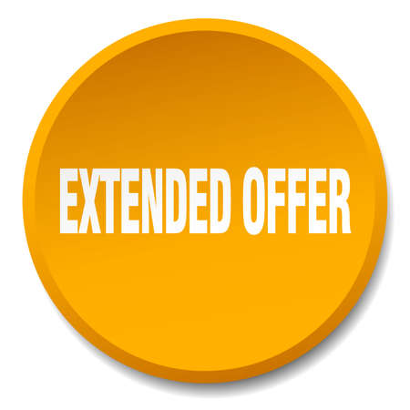 extended: extended offer orange round flat isolated push button