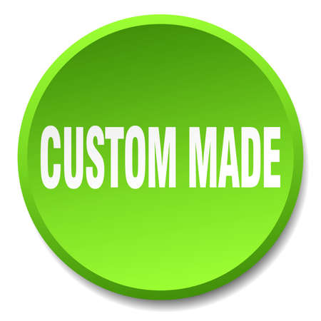 custom made: custom made green round flat isolated push button Illustration