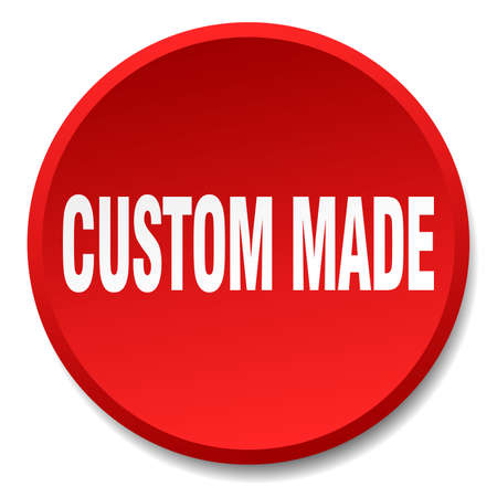 custom made: custom made red round flat isolated push button