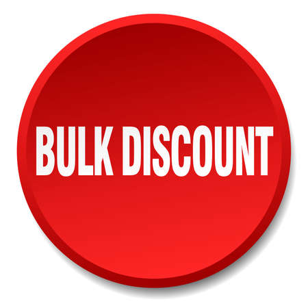 bulk: bulk discount red round flat isolated push button