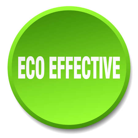 effective: eco effective green round flat isolated push button