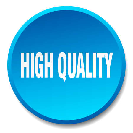 high quality: high quality blue round flat isolated push button Illustration