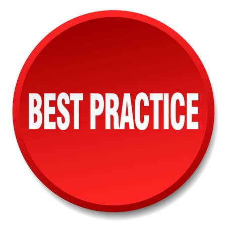 best practice: best practice red round flat isolated push button