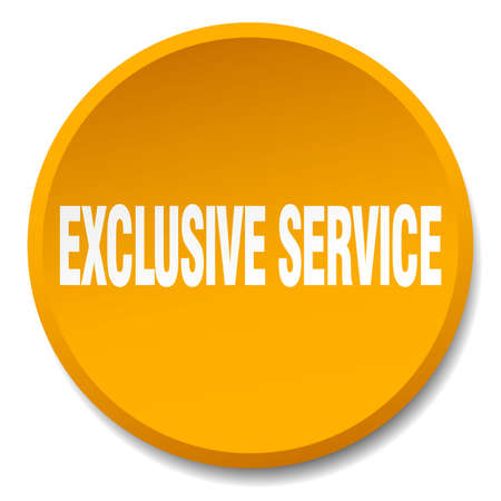 exclusive: exclusive service orange round flat isolated push button