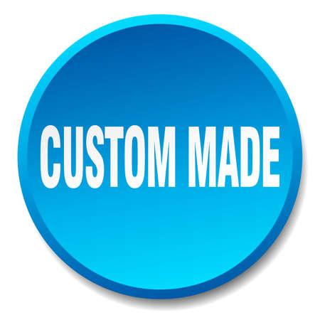 custom made: custom made blue round flat isolated push button