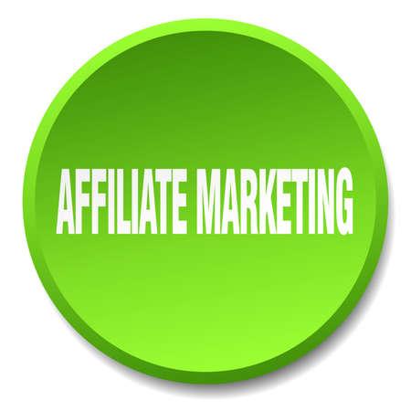 affiliate marketing: affiliate marketing green round flat isolated push button Illustration