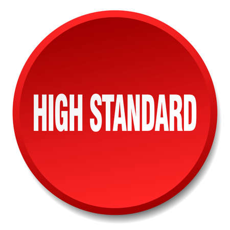 standard: high standard red round flat isolated push button Illustration